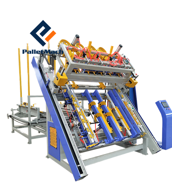 Auto pallet nailing machine