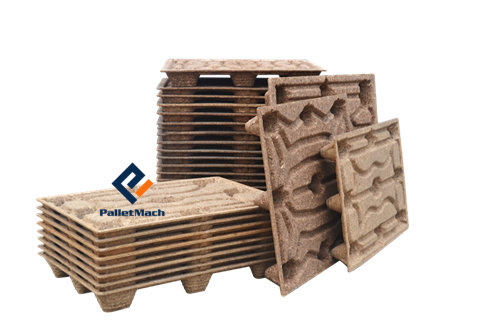 Molded wood pallets