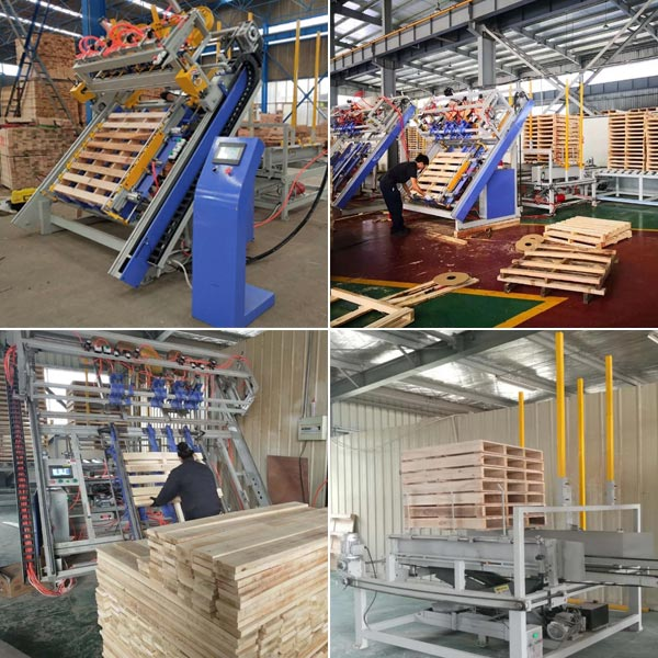 American and Euro wooden pallet machine